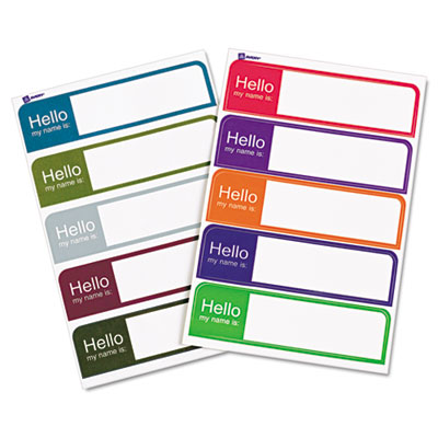 avery hello flexible self adhesive mini name badge labels