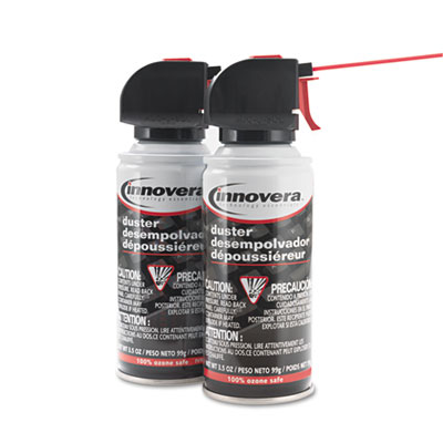 innovera compressed air duster cleaner sunbelt paper packaging. Black Bedroom Furniture Sets. Home Design Ideas