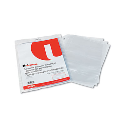Universal looseleaf business card pages sunbelt paper packaging universal looseleaf business card pages colourmoves